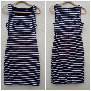 The Limited Dark Gray Striped Sheath Dress Size 4